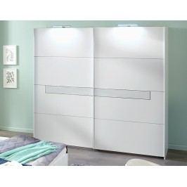 Šatní skříň 270 cm s posuvnými dveřmi v alpské bílé barvě typ 862 KN809
