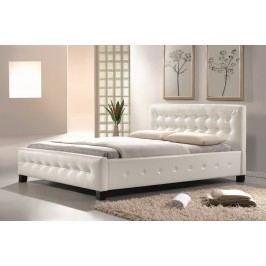 Manželská postel 160x200 cm v bílé barvě s roštem KN725
