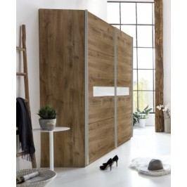 Šatní skříň 270 cm s posuvnými dveřmi v dekoru dub divoký typ 862 KN809