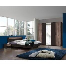 Ložnicová sestava v lávové barvě s dekorem dub bahenní typy 748 291 698 KN815