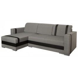 Univerzální sedací souprava v šedé barvě v kombinaci s tmavě hnědou ekokůží F1316