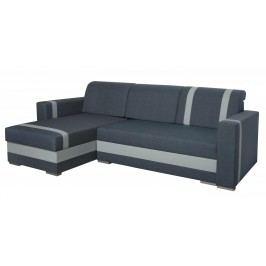 Univerzální sedací souprava v tmavě šedé barvě v kombinaci s šedou ekokůží F1316