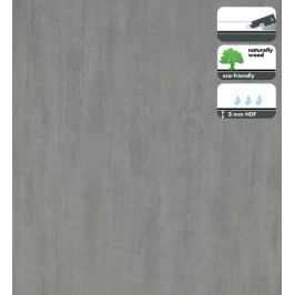 Vinylová podlaha dílce v dekoru ocelově šedá 5 mm FORBO Novilon Click