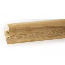 Podlahová lišta PVC odklápěcí pro kabel dekor jilm královský LP55