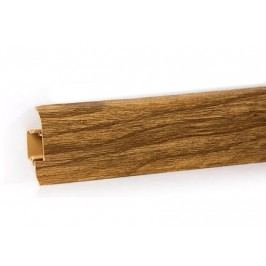 Podlahová lišta PVC odklápěcí pro kabel dekor dub burgundský LP55