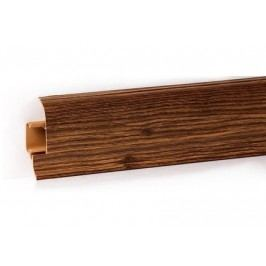 Podlahová lišta PVC odklápěcí pro kabel dekor dub retro LP55