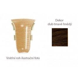 Roh vnitřní k PVC liště dekor dub tmavě hnědý 2 ks LP55