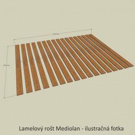 Vitrína, sklenená s podsvietením, sosna laredo/biely lesk, BIANCA 3