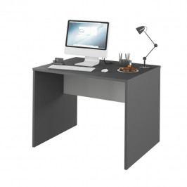 PC stůl 100x80 cm v kombinaci grafit a bílá Typ 12 TK2157