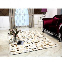 Luxusní koberec, kůže, typ patchworku, 170x240 cm, KOBEREC KOŽA typ1