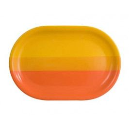 Talíř keramický oválný 35,5 cm, oranžovožlutý