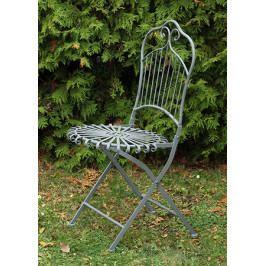 Zahradní kovová sklápěcí židle v šedé barvě YH13001GREY