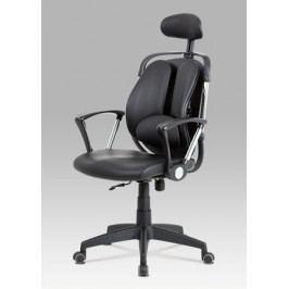 Kancelářská výškově nastavitelná židle z ekokůže v černé barvě KA-D704 BK
