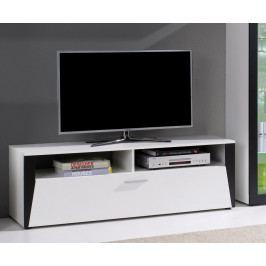 Televizní stolek 140 cm v bílé a černé barvě F2018