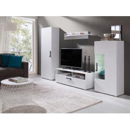 Obývací stěna v bílé barvě F2016
