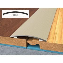 Profil podlahový hliníkový samolepící 3x270 cm ořech PVC folie BOHEMIA