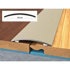 Profil podlahový hliníkový samolepící 4x90 cm ořech PVC folie BOHEMIA