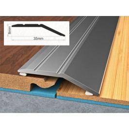 Profil vyrovnávací hliníkový samolepící 0,8x3,5x270 cm ořech PVC folie BOHEMIA