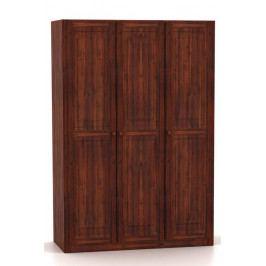 Třídveřová šatní skříň v klasickém moderním stylu vyrobená z masivního dřeva MV054