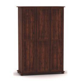 Moderní šatní skříň se třemi dvířky v klasickém stylu vyrobená z masivního dřeva MV154