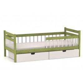 Dětská postel s úložným prostorem vyrobená z masivu v klasickém moderním stylu MARCELKA MV221