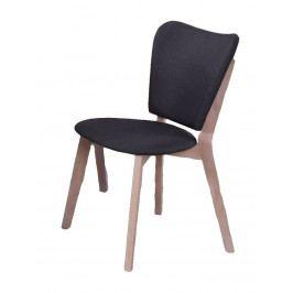 Jídelní čalouněná židle v šedé barvě s dřevěnou konstrukcí KN912