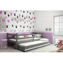 Dětská postel s přistýlkou v barevném provedení grafit 90x200 cm F1390