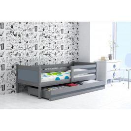 Dětská postel s úložným prostorem a matrací v barvě grafit 80x190 cm F1366