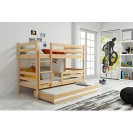 Dětská patrová postel s přistýlkou v dekoru borovice F1390
