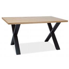 Jídelní stůl 180x90 cm z přírodní dýhy v dekoru dub typ II KN555