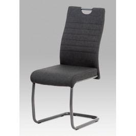 Jídelní židle v šedé látce s podnoží v barvě matný antracit DCL-417 GREY2  AKCE