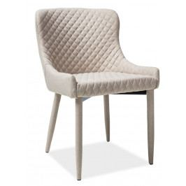 Jídelní čalouněná židle v béžové barvě s prošíváním KN349