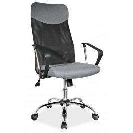 Kancelářská otočná židle v černé a šedé barvě KN1033