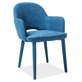 Jídelní židle čalouněná potahovou látkou v modré barvě KN910