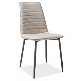 Jídelní židle v béžové barvě na kovové černé konstrukci KN896