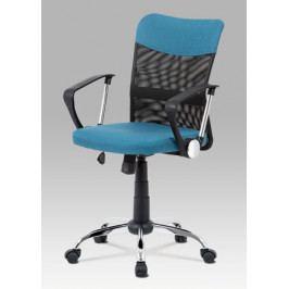 Kancelářská nastavitelná židle z modré látky s houpacím mechanismem KA-V202 BLUE