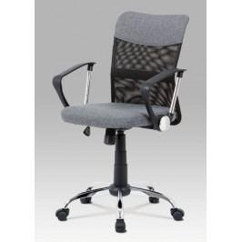 Kancelářská nastavitelná židle z šedé látky s houpacím mechanismem KA-V202 GREY