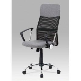 Kancelářská židle potažena šedou látkou s černými detaily KA-V204 GREY