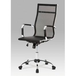 Kancelářská židle z černé látky a síťoviny s houpacím mechanismem KA-V303 BK
