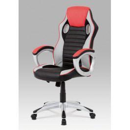 Výškově nastavitelná kancelářská židle z ekokůže v černočervené barvě KA-V507 RED AKCE AKCE