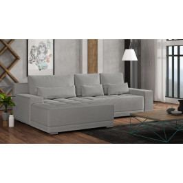 Univerzální sedací souprava s úložným prostorem v šedé barvě 292 cm F1370