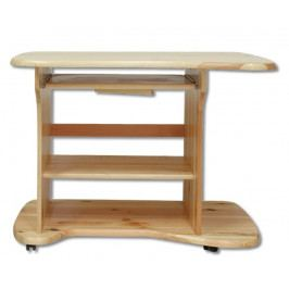 Dřevěný pracovní stůl na kolečkách bez moření borovice typ RB113 KN095