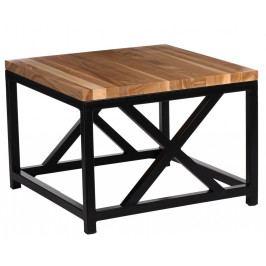 Konferenční stolek 45x45 cm v dekoru třešeň na kovové černé konstrukci DO037