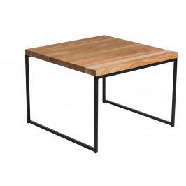 Konferenční stolek 100x100 cm v dekoru třešeň s černou kovovou konstrukcí DO038