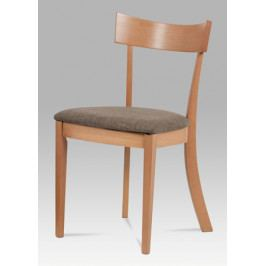 Jídelní židle v dekoru buk se sedákem v krémové barvě BC-3333 BUK3