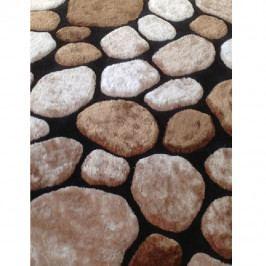Koberec hnědý vzor kámen 100x140 TK3201