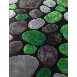 Koberec zelený vzor kámen 70x210 TK3202
