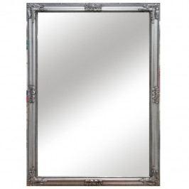 Zrcadlo, stříbrný dřevěný rám, MALKIA TYP 11