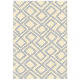 Koberec, krémově / šedá / vzor, 67x120, GILMER TYP 2