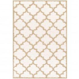 Koberec, slonovinová/krémová / vzor, 100x150, BATAM TYP 1